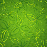 Background with green leaves. Seamless background with green leaves Stock Photos