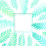 Background with green leaves. Abstract background with place for your text royalty free illustration