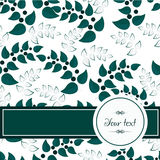 Background of green leaves. Green leaves background card template Stock Photography