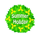 Background of green leaves. Summer holiday stock illustration