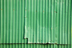Background from green metal wall Royalty Free Stock Images