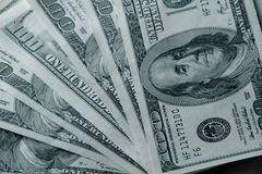 Background of green money. Royalty Free Stock Photography