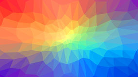 Background with green and orange triangles. Raster . Royalty Free Stock Photos