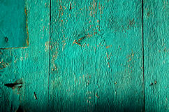 Background of green painted old wooden planks Stock Photo