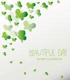 background with green parkowski butterflies Stock Photos