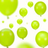 Background of green party balloons Stock Image