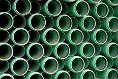 Background of green pipes Royalty Free Stock Image
