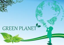 Background-green planet Stock Photography