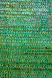 Background of a green plastic awning used as a sunshade. Royalty Free Stock Images