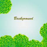 Background with green porous objects Stock Images