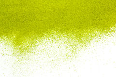 Background of green powder surface. Close up Stock Photography