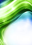 Background with green shape Stock Photo