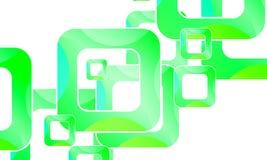 Background with green squares frames. Vector art illustration stock illustration