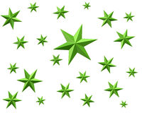 Background with green stars. 3d illustration of background with green stars Royalty Free Stock Image