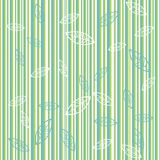 Background with green stripes. And leaves Stock Photography