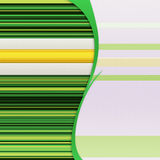 Background with green stripes. Abstract background with green and yellow stripes Stock Photography