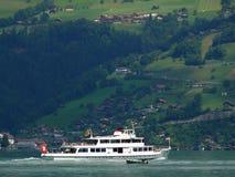 Thunersee, Switzerland. 08/03/2009. Boat on the lake royalty free stock image