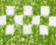 Background of green towel. close-up Stock Photos