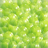 Background with green transparent balloons. Abstract background with green transparent balloons Royalty Free Stock Photo