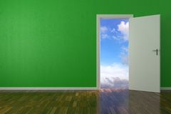 Background Green Wall Royalty Free Stock Image