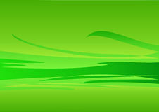 Background - green waves. Vector illustration of background with waves Stock Photos