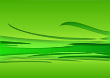Background - green waves Stock Photography