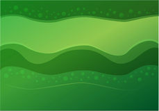Background green waves Stock Photos