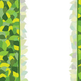 Background green yellow leaves post Stock Photos