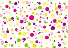 Background with green yellow pink and purple colored spots vector illustration
