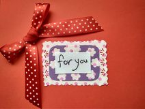 For Valentine`s Day inscription Happy Valentine`s Day and hearts royalty free stock image