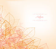 Background, greeting card with stylized autumn leaves Royalty Free Stock Photo