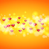 Background for greeting card for Valentine`s day. Heart in the center. Eps10 Royalty Free Stock Photo