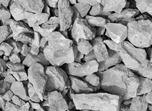 Background, grey rubble Royalty Free Stock Photo