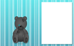 Background with grey teddy bear Stock Image