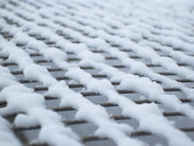 Background grid covered with snow Stock Images