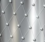 Background grid with metal balls Stock Photos