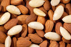 Background  of group of almonds macro Royalty Free Stock Photography