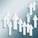 Background with a group of paper arrows Royalty Free Stock Photos