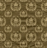 Background from  grown old crumpled newsprint paper and pattern Royalty Free Stock Images