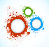 Background with grunge circles Stock Images