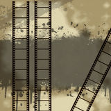 Background with Grunge Filmstrip. In brown Stock Image