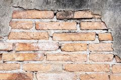 Background of Grunge Old brick wall stock photography