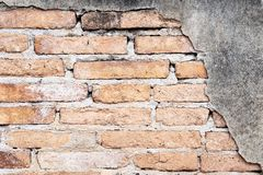 Background of Grunge Old brick wall royalty free stock photography