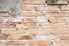 Background of Grunge Old brick wall royalty free stock photo