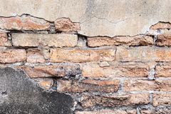 Background of Grunge Old brick wall royalty free stock images