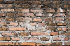 Background of Grunge Old brick wall stock photos