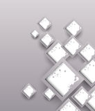 Background with grunge squares. Abstract illustration Royalty Free Stock Images