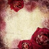 Background in grunge style with flowers. Background in grunge style with roses Royalty Free Stock Images