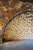 Background in grunge style. Background of an old brick wall in grunge style Stock Image