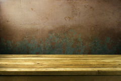 Background with grunge wall Royalty Free Stock Images